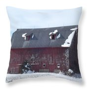 Snow On Roof Throw Pillow