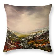 Snow On The Cairngorms Throw Pillow