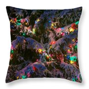 Snow On The Christmas Tree 1 Throw Pillow