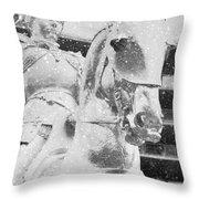 Snow On The Philadelphian Throw Pillow