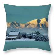 Snow On Utah Mountains Throw Pillow