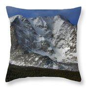Snow Peaks Throw Pillow
