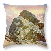 Snow Peaks Of Mount Titlis Throw Pillow