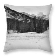 Snow Prints Throw Pillow