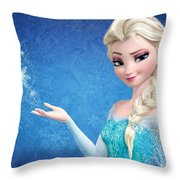 Snow Queen Elsa Frozen Throw Pillow