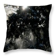 Snow Rays Throw Pillow