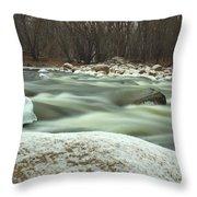 Snow Rock Throw Pillow