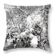 Snow Scene 4 Throw Pillow