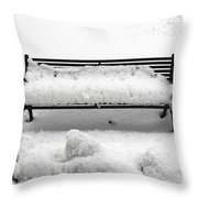 Snow Scene 8 Throw Pillow by Patrick J Murphy