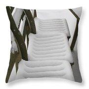 Snow Seat Throw Pillow