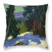 Snow Shadows Mammoth Mountain Throw Pillow