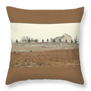 Snow-showered Throw Pillow