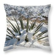 Snow Spines Throw Pillow