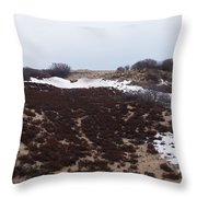 Snow Spotted Dunes Throw Pillow