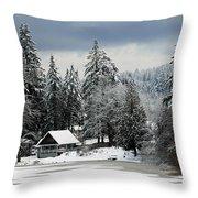 Snow Storm Throw Pillow