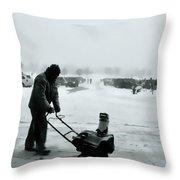 Snow Storm Minneapolis Throw Pillow