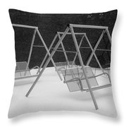 Snow Swings Throw Pillow