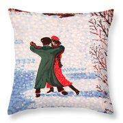 Snow Tango Throw Pillow