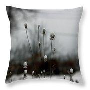 Snow Tops Throw Pillow