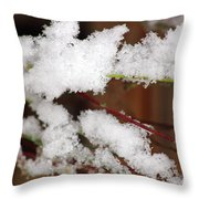 Snow Twig Abstract Throw Pillow