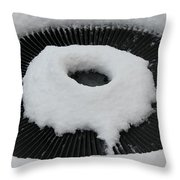 Snow Vent Abstract Throw Pillow