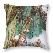 Snow Vines Throw Pillow