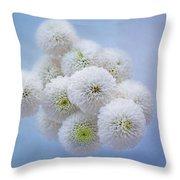 Snowballs-pom Mum Throw Pillow