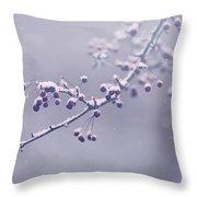 Snowberries Throw Pillow