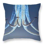 Snowbirds In A Dive Throw Pillow