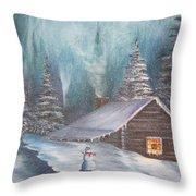 Snowbound Holiday Throw Pillow