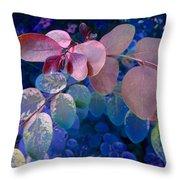 Snowbush Blue Throw Pillow