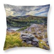 Snowdon Moutain Range Throw Pillow