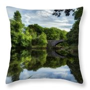 Snowdonia Summer On The River Throw Pillow
