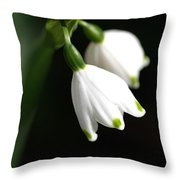 Snowdrop Duo Throw Pillow