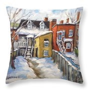Snowed In Yards By Prankearts Throw Pillow