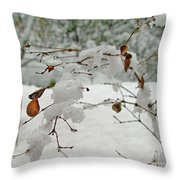 Snowed Under Throw Pillow