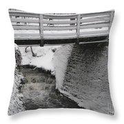 Snowfall Bridge Throw Pillow