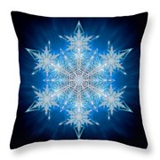 Snowflake - 2012 - A Throw Pillow by Richard Barnes
