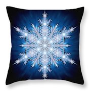 Snowflake - 2013 - A Throw Pillow by Richard Barnes