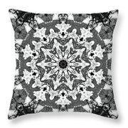 Snowflake Throw Pillow by Dan Sproul