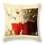 Snowflake Kisses Throw Pillow