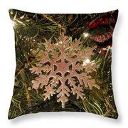 Snowflake Ornament Throw Pillow