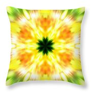 Snowflake Sunburst Throw Pillow