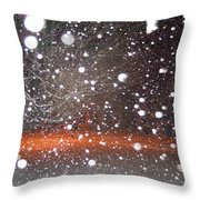 Snowflakes And Orbs Throw Pillow