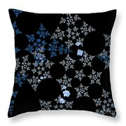 Snowflakes By Jammer Throw Pillow