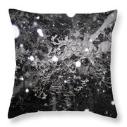Snowflakes Falling Throw Pillow