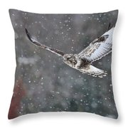 Snowing Flight Throw Pillow