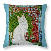 Snowi's Garden Throw Pillow