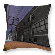 Snowlit Alley Throw Pillow