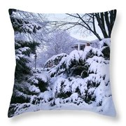 Snowmageddon 2014 Throw Pillow